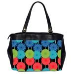 Vibrant Retro Pattern Office Handbags (2 Sides)  Back