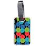 Vibrant Retro Pattern Luggage Tags (Two Sides) Back