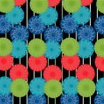 Vibrant Retro Pattern Storage Stool 12   Top