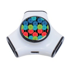Vibrant Retro Pattern 3 Port Usb Hub by DanaeStudio
