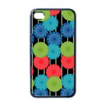 Vibrant Retro Pattern Apple iPhone 4 Case (Black) Front