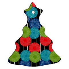 Vibrant Retro Pattern Christmas Tree Ornament (2 Sides) by DanaeStudio