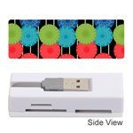 Vibrant Retro Pattern Memory Card Reader (Stick)  Front