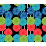 Vibrant Retro Pattern Deluxe Canvas 14  x 11  14  x 11  x 1.5  Stretched Canvas