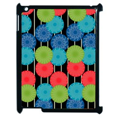 Vibrant Retro Pattern Apple Ipad 2 Case (black) by DanaeStudio