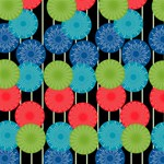 Vibrant Retro Pattern YOU ARE INVITED 3D Greeting Card (8x4) Inside