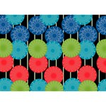 Vibrant Retro Pattern Apple 3D Greeting Card (7x5) Front