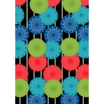 Vibrant Retro Pattern Get Well 3D Greeting Card (7x5) Inside