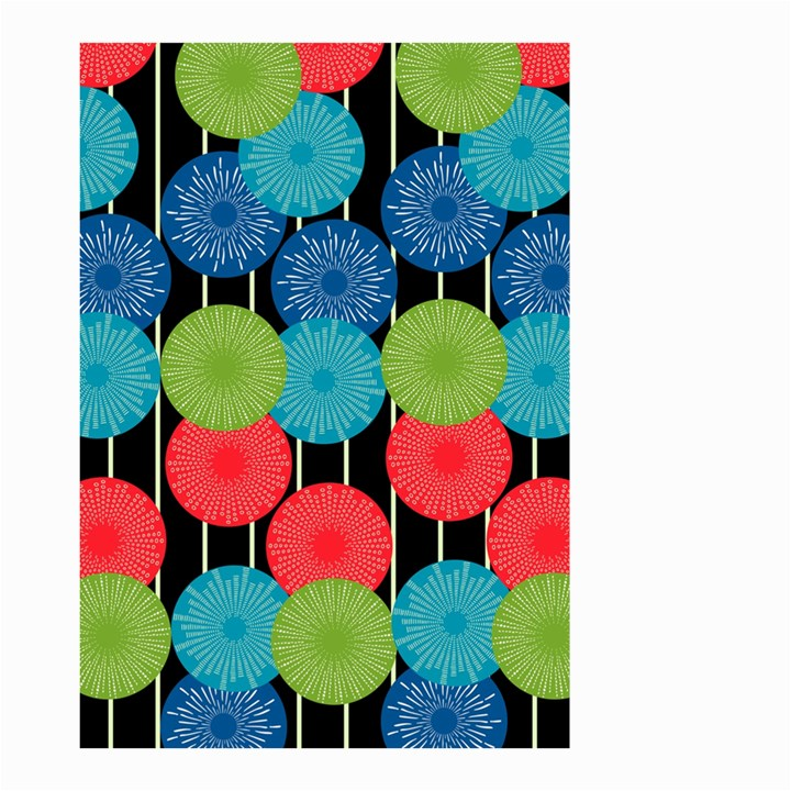 Vibrant Retro Pattern Small Garden Flag (Two Sides)