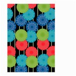 Vibrant Retro Pattern Small Garden Flag (Two Sides) Back