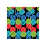 Vibrant Retro Pattern Acrylic Tangram Puzzle (4  x 4 ) Front