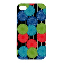 Vibrant Retro Pattern Apple Iphone 4/4s Premium Hardshell Case by DanaeStudio