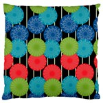 Vibrant Retro Pattern Large Cushion Case (One Side) Front