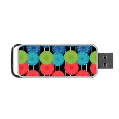 Vibrant Retro Pattern Portable Usb Flash (two Sides) by DanaeStudio