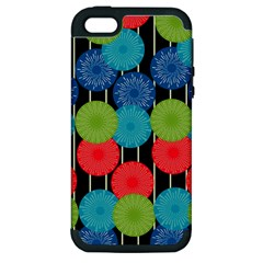 Vibrant Retro Pattern Apple Iphone 5 Hardshell Case (pc+silicone) by DanaeStudio