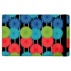 Vibrant Retro Pattern Apple Ipad 2 Flip Case by DanaeStudio