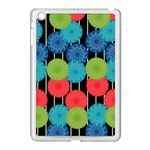 Vibrant Retro Pattern Apple iPad Mini Case (White) Front