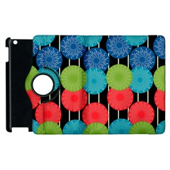 Vibrant Retro Pattern Apple Ipad 2 Flip 360 Case by DanaeStudio