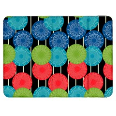 Vibrant Retro Pattern Samsung Galaxy Tab 7  P1000 Flip Case by DanaeStudio