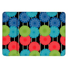 Vibrant Retro Pattern Samsung Galaxy Tab 8 9  P7300 Flip Case by DanaeStudio