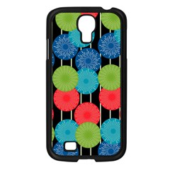 Vibrant Retro Pattern Samsung Galaxy S4 I9500/ I9505 Case (black) by DanaeStudio