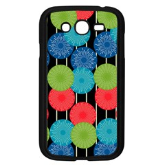 Vibrant Retro Pattern Samsung Galaxy Grand Duos I9082 Case (black) by DanaeStudio