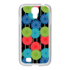 Vibrant Retro Pattern Samsung Galaxy S4 I9500/ I9505 Case (white) by DanaeStudio