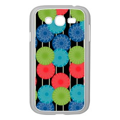 Vibrant Retro Pattern Samsung Galaxy Grand Duos I9082 Case (white) by DanaeStudio
