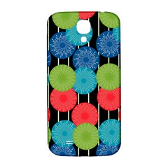Vibrant Retro Pattern Samsung Galaxy S4 I9500/i9505  Hardshell Back Case by DanaeStudio