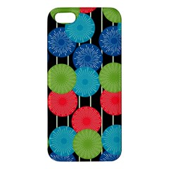 Vibrant Retro Pattern Iphone 5s/ Se Premium Hardshell Case by DanaeStudio