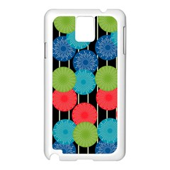 Vibrant Retro Pattern Samsung Galaxy Note 3 N9005 Case (white) by DanaeStudio