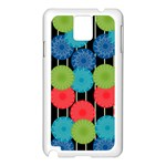 Vibrant Retro Pattern Samsung Galaxy Note 3 N9005 Case (White) Front