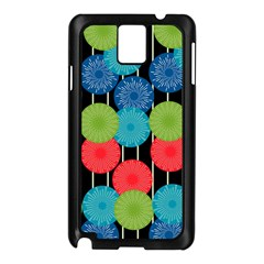 Vibrant Retro Pattern Samsung Galaxy Note 3 N9005 Case (black) by DanaeStudio
