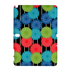 Vibrant Retro Pattern Samsung Galaxy Note 10 1 (p600) Hardshell Case by DanaeStudio