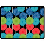 Vibrant Retro Pattern Double Sided Fleece Blanket (Large)  80 x60 Blanket Back