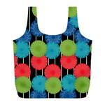 Vibrant Retro Pattern Full Print Recycle Bags (L)  Back