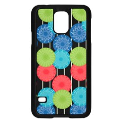 Vibrant Retro Pattern Samsung Galaxy S5 Case (black) by DanaeStudio