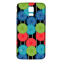 Vibrant Retro Pattern Samsung Galaxy S5 Back Case (white) by DanaeStudio