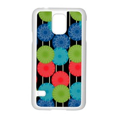 Vibrant Retro Pattern Samsung Galaxy S5 Case (white) by DanaeStudio