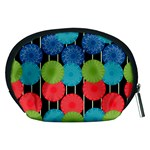 Vibrant Retro Pattern Accessory Pouches (Medium)  Back