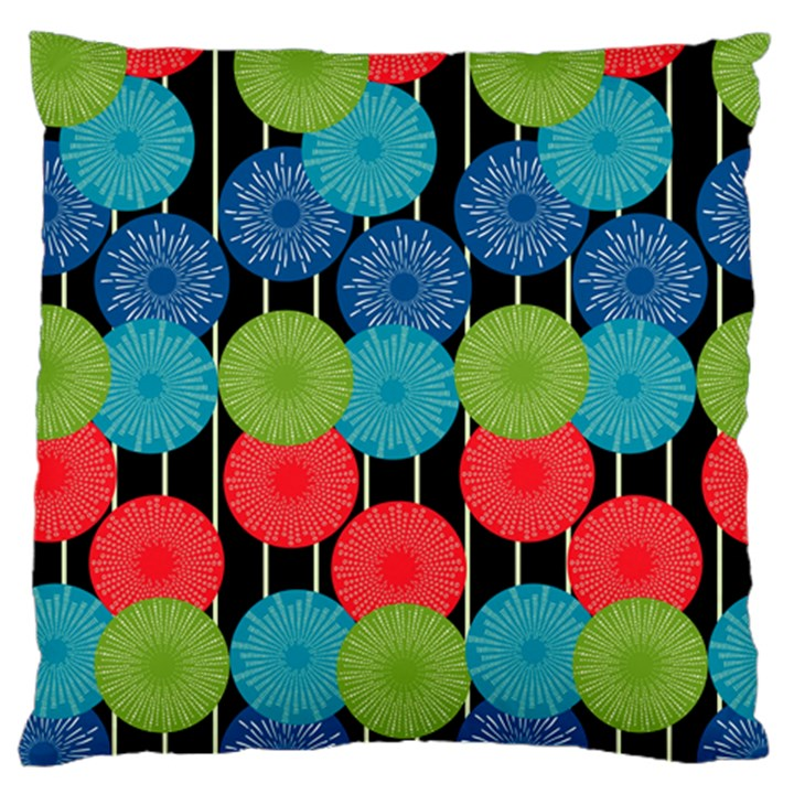 Vibrant Retro Pattern Large Flano Cushion Case (Two Sides)