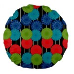 Vibrant Retro Pattern Large 18  Premium Flano Round Cushions Front