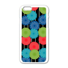 Vibrant Retro Pattern Apple Iphone 6/6s White Enamel Case by DanaeStudio