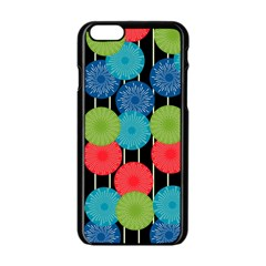 Vibrant Retro Pattern Apple Iphone 6/6s Black Enamel Case by DanaeStudio