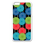 Vibrant Retro Pattern Apple iPhone 6 Plus/6S Plus Enamel White Case Front