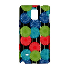 Vibrant Retro Pattern Samsung Galaxy Note 4 Hardshell Case by DanaeStudio
