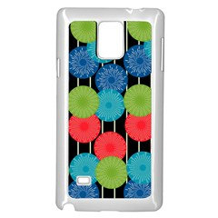 Vibrant Retro Pattern Samsung Galaxy Note 4 Case (white) by DanaeStudio