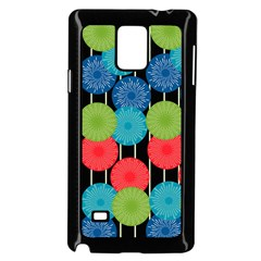 Vibrant Retro Pattern Samsung Galaxy Note 4 Case (black) by DanaeStudio