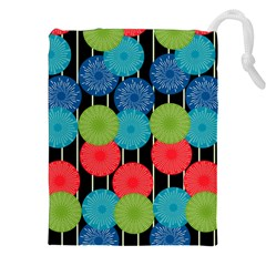 Vibrant Retro Pattern Drawstring Pouches (xxl) by DanaeStudio