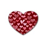 Watercolor Valentine s Day Hearts Heart Coaster (4 pack)